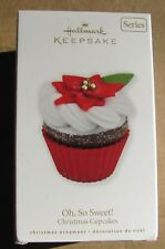 2010 Hallmark Keepsake Oh So Sweet! Christmas Cupcakes #1 in Series Ornament NEW