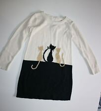 New Gymboree Girls Sparkly Kitty Cat Pals Sweater Dress 4 Year NWT City Kitty
