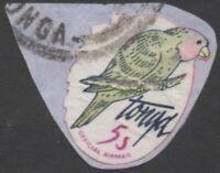 Tonga official 1981 SGO213 5s Blue-crowned Lory no foliage FU