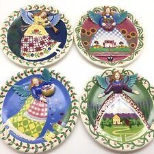 "4 Heartwood Creek 3D Angel 9"" Jim Shore Plates 4 Seasons Farmhouse Holida Decor"