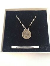 CLEOPATRA & MARK ANTONY cgalcp EMBLEMA in argento placcato in platino collana 18 ""