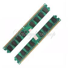 4GB 2X2GB PC2-5300/5300U DDR2-667 MHZ DIMM Memory RAM 240 Pin For AMD PC Desktop