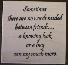 Mounted Rubber Stamps, Friendship Sayings, Friendship Stamps, Quotes, Poem, Hugs