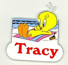 Tweety Bird Name Magnet ~ Tracy ~ Looney Tunes Collectible~ Stocking Stuffer