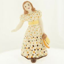 Ceramic Arts Studio Mary Had a Little Lamb Figurine Yellow