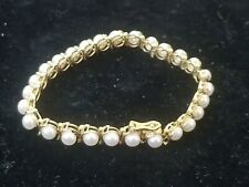 Mikimoto Pearl Bracelet 14k Gold 28 Pearl's absolutely beautiful