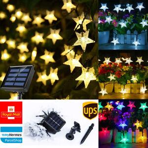 30 50 LED SOLAR POWERED STAR STRING FAIRY LIGHTS DECOR XMAS GARDEN OUTDOOR PARTY