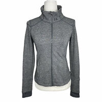 Under Armour StudioLux Snake Print Textured Zip Up Jacket Athleisure Women's XS