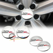 4PCS SILVER SSR WHEEL CAP STICKER 56.5mm SS Aluminum Car Wheel Center Hub
