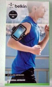 Belkin Sport-Fit Universal Armband Black For 5.5 Inch Smartphones New
