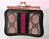 GUCCI MONOGRAM BLUE DOUBLE COIN PURSE/WALLET, Accessory Collection Made Italy