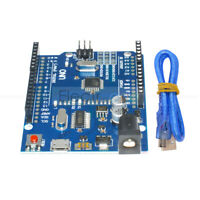 ATMEGA328P-16AU UNO R3 CH340G Micro USB Board + Cable For Arduino