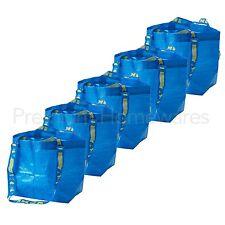 5 x IKEA BRATTBY Small Blue Storage Bags 27x27cm (Mini FRAKTA Style)