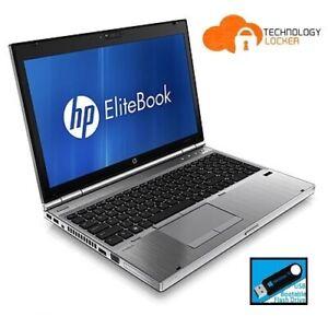 """HP EliteBook 8570p 15.6"""" Intel i5-3320M @2.60GHz 8GB 120GB SSD Win 10 AMD 7570M"""