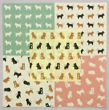 JAPANESE KAWAII DOG DESIGN ORIGAMI WASHI QUALITY CRAFT PAPER 30 pcs x 5 patterns