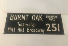 "London Linen Bus Blind 5917 36""- 251 Burnt Oak Edgware Road Mill Hill Broadway"