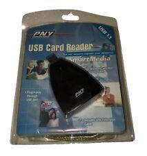 2002 USB Card Reader SmartMedia 1.1 PNY Technologies Windows / Mac Compatible