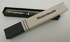 Vintage Waterman's W3 Fountain Pen 14ct Nib Blue & Gold Trim Lever Fill Boxed