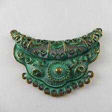 5 pcs Vintage Bronze Patina Color Alloy Totem Charms Pendant Connectors 52016