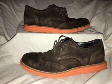 Cole Haan LunarGrand Lunarlon Wingtip Oxford Brown Suede Mens Shoes Size 10 M