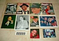 Lot Of Frank Sinatra Memorabilia TV Guide People Newsweek Photos Stamps Fan Club