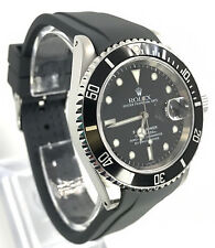 Rubber Dive Strap For Rolex Submariner Grey 20mm Curved End Band USA Seller