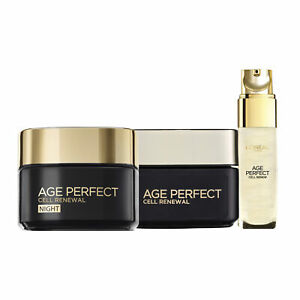 NEW L'Oreal Paris Age Perfect Cell Renewal Revitalising Day + Night Cream+ Serum