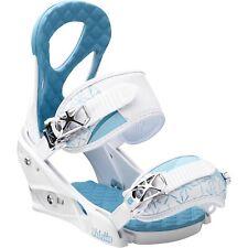 Burton Women Stiletto Snowboard Bindings (S) White / Blue