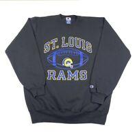 Vintage 90s Champion Crewneck Sweatshirt XL St Louis Rams Graphic NFL Made USA