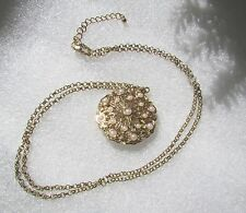 """Gifting On A Budget? Pearl Filigree Medallion Necklace Adjustable 34"""" Chain"""