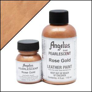 Angelus Acryl Lederfarbe Pearlescent Rose Gold (456) 118ml (105,93€/1L)