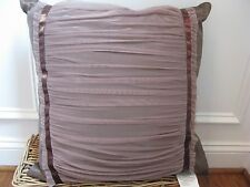 Waterford BALLINA Square Gathered Netting deco pillow NWT