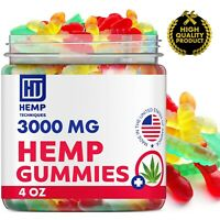 Hemp Gummies For Pain and Anxiety With Hemp Oil 3000 MG 20CT Worms Shape