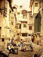 VINTAGE PHOTO OLD VENETIAN COURTYARD VENICE ITALY FINE ART PRINT POSTER CC5345