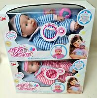 BABY DOLL 30cm With SOUND Cries Giggles Toy Accessories Boy Girl/Boy Pink/Blue