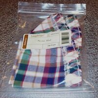 Longaberger Woven Traditions Plaid NOTE PAL Basket Liner ~ Brand New in Bag!