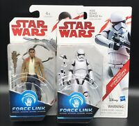 "Star Wars Force Link Bundle 3.75"" Figures  Finn Resistance Fighter Stormtrooper."