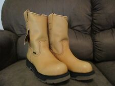 Angus work boots light brown tan leather