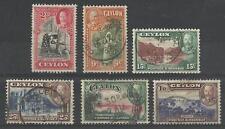 CEYLON KGV 1935 PART SET USED