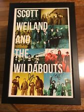 Scott Weiland And The Wildabouts Framed Autographed Signed Print Autograph Rare