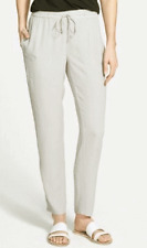 $258 BNWT EILEEN FISHER Silk Georgette Crepe SILVER Slouchy Ankle Pants XL