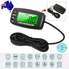 Waterproof Tachometer Digital RPM Hour Tach Meter LCD Bike Motorcycle Marine AU