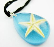 10 PCS Vintage blue color resin jewelry pressed star necklace fashion pendant