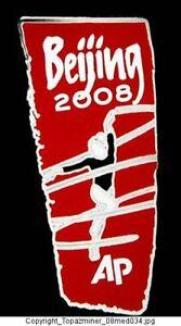 OLYMPIC PIN BEIJING 2008 AP MEDIA SPONSOR SPORT GYMNAST