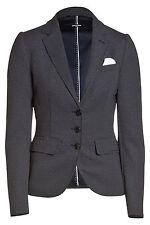 Gepunktete hüftlange Damenjacken & -mäntel mit Knöpfen für Business-Anlässe