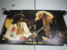 VINTAGE 1972 LED ZEPPELIN PAGE AND PLANT POSTER. RARE!!