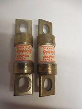 LOT OF 2 SHAWMUT AMP-TRAP FUSE A50P60 A50P60-4  60A 60 A AMP 500Vac TYPE 4
