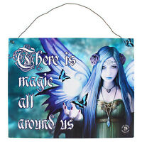 Fantasy Gothic Art Metal Wall Plaque~Sign~Mystic Aura~by Anne Stokes~7~uk