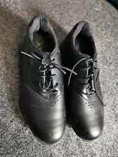 Mens Boys ADIDAS Golf Shoes Size 5.5 EVG 791003 Black Traxion