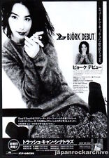1993 Bjork photo Debut Japan album promo press ad / mini poster advert b11r